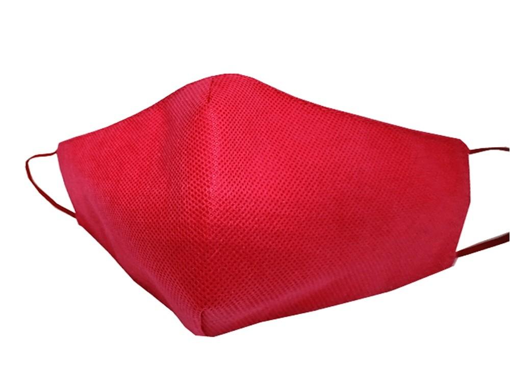 Маска для лица многоразовая из спанбонда, красный